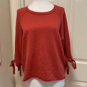 Velvet by Graham & Spencer Cashmere Sweater, Rust